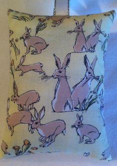 Rabbit Hare Fabric Lavender Bag / Christmas Gift / Stocking Filler - Handmade in Home, Furniture & DIY, Celebrations & Occasions, Other Celebrations & Occasions | eBay