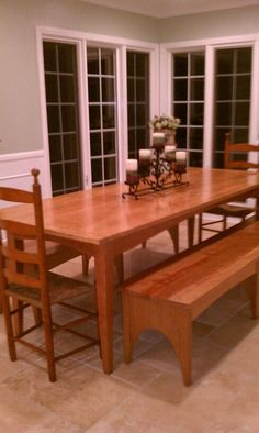 Shaker table and benches  (My Dad made this!)