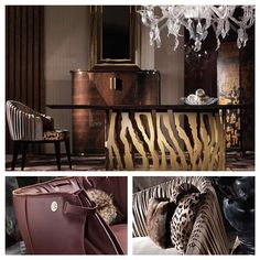 When one of your favorite designers is also designing home furniture and you can't get over the intricate details! (Bottom left: bag chair?? Yes please!!) @robertocavallihome_interiors... - Interior Design Ideas, Interior Decor and Designs, Home Design Inspiration, Room Design Ideas, Interior Decorating, Furniture And Accessories
