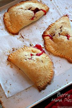 Recipe for Strawberry and Raspberry Berry Hand Pies : add blueberries to make a very berry 4th of July dessert recipe.