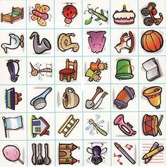 Guardan la imagen en clic derecho encima de una, GUARDAR CÓMO, en MIS DOCUMENTOS, luego entran al programa WORD, después pegan las imágenes... File Folder Games, Art Plastique, Clipart, Kindergarten, 1, Album, Teaching, Cards, Flashcard