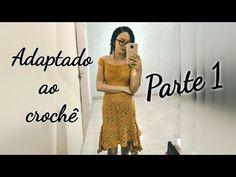 Vestido Adaptado ao Crochê - YouTube Vanessa Montoro, Crochet Summer Dresses, Two Piece Skirt Set, Formal Dresses, Skirts, Youtube, People, 1, Fashion