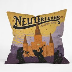 DENY Designs Anderson Design Group New Orleans Polyester Throw Pillow