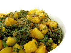 Spinach and Potatoes (Aloo Palak)