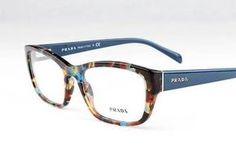 New Prada VPR18O Eyeglasses Frames Blue Havana Marble Nag 1O1 Authentic 54mm | eBay