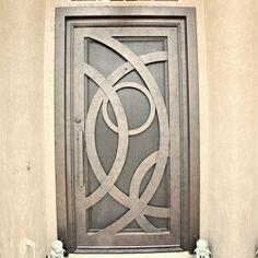 Custom Iron Entry Door - First Impression Ironworks Door Gate Design, Foyer Design, Front Door Design, Security Doors, Security Screen, Modern Exterior Doors, Steel Table Legs, Contemporary Doors, Screen Doors