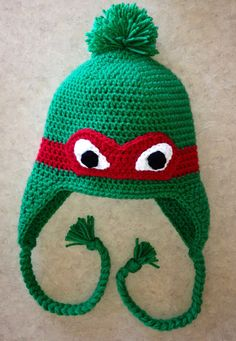 676eb1429fc Teenage Mutant Ninja Turtles Crochet Hat without the pom pom Crochet Ninja  Turtle
