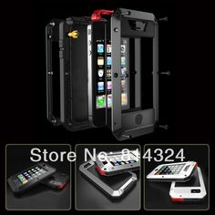 Original Brand Extreme Waterproof Shockproof Aluminum Metal Case cover for iPhone 5 5S  with Tempered Gorilla glass retail box