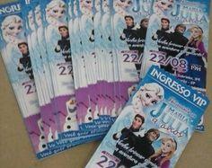 Convite Ingresso Frozen