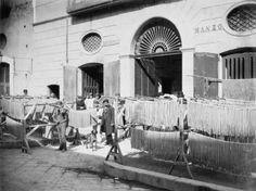Pasta drying in the streets - Naples 1897