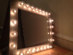 Custom lit glamor vanity makeup table top mirror by WoodUBeMine, $171.00