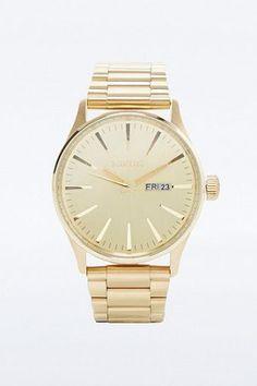 """Nixon – Uhr """"Sentry SS"""" in Gold – Herren EINHEITSGRÖSSE"""