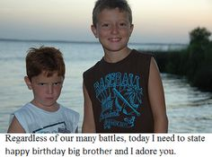 Brother and Sister Quotes: Happy Birthday Big Brother