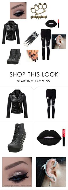 """""""I'm Coming Home"""" by be-forever-different ❤ liked on Polyvore featuring Chicnova Fashion, Miss Selfridge, Bettie Page and Lime Crime"""