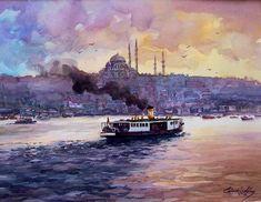 Istanbul, Watercolor Paintings, Art Gallery, Artist, Art Museum, Water Colors, Artists, Watercolour Paintings, Watercolor Painting