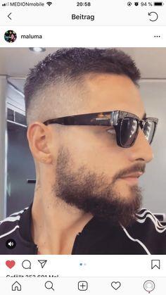 Mens Hairstyles With Beard, Hair And Beard Styles, Hairstyles Haircuts, Haircuts For Men, Hair Styles, Maluma Haircut, Pretty Boys, Hair Cuts, Mens Sunglasses