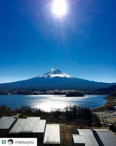 Sunny day with Mount Fuji