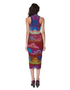 Mara Hoffman Radial Turtleneck Midi Dress