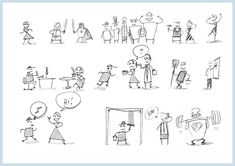 What is a minimum viable character? Basically the simplest character you can make, which is still viable for the purpose of storyboarding.