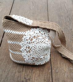 Crochet bag pattern bag with a doily par Chicandsimplicity sur Etsy