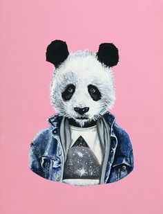 Panda Art, Red Panda, Cute Panda, Freedom Art, Bear Illustration, Image Fun, Stay Weird, Dark Fantasy Art, Animals And Pets