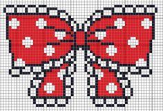 Free Red Polka Dot Bow Cross Stitch Pattern