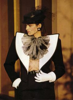 Yves Saint Laurent Haute Couture | Circa 1982-1986(?) - bears a resemblance to the next picture from 2013 collection