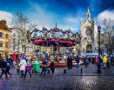 Brussels, Belgium. St. Catherine square. Photo: Luc Mercelis