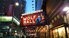 A Broadway double header. Two parts. 6 hours! My first Royal Shakespeare production.