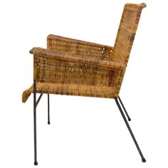 Van Keppel-Green Iron and Wicker Lounge Chair 1