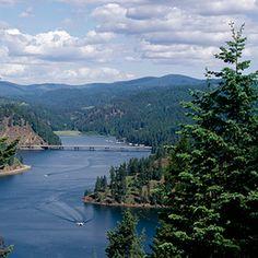 America's best lake vacations. Lake Coeur d'Alene: Idaho. Via T+L  (www.travelandleisure.com).
