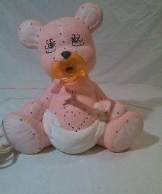 Vintage Pink Baby Bear lamp nightlight