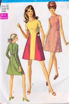 1960s Misses Dress Vintage Sewing Pattern