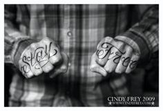 Brian Fallon (The Gaslight Anthem) Knuckle Tattoo