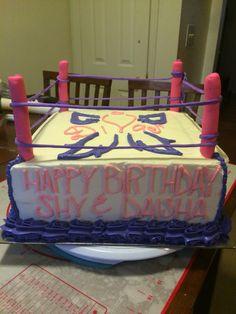wrestlingringcake WWE divas cake Sweet Cravings Cakery by