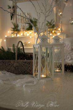 White lanterns and twigs
