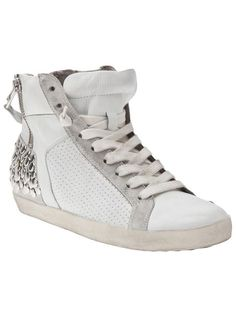 Shop Kennel & Schmenger Leather stud metro trainers