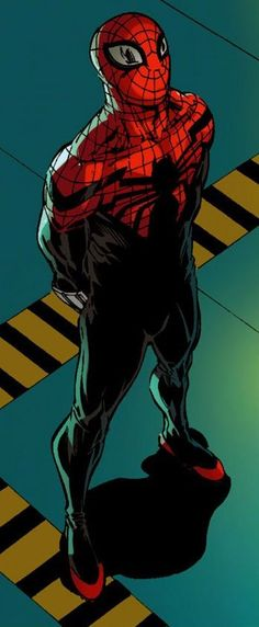 Superior Spider-Man by Giuseppe Camuncoli-not to take away from the picture, but I seriously thought he was wearing heels at first Comic Book Characters, Marvel Characters, Comic Character, Comic Books Art, Comic Art, Marvel Comics, Marvel Heroes, Captain Marvel, Fantasy Anime