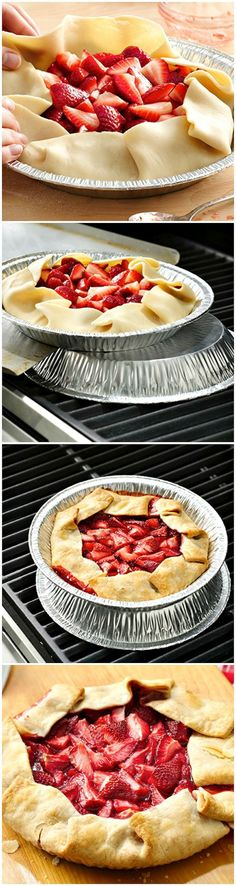 Grilled Strawberry Pie ~ So fun! Easy and the perfect berry dessert for summer cookouts and parties!