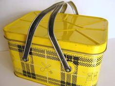 yellow picnic basket