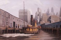 Nicholas Berger, Backing Down, oil on panel, 38 X 58 inches Nantucket, New York Skyline, Oil, Sculpture, Gallery, Photography, Painting, Travel, Photograph