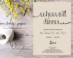 Perfect downloadable Rehearsal Dinner invitation. Doesn't get much easier than this...