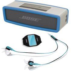 Bose SoundLink Mini Bluetooth Speaker Blue & SIE2i Earphones Blue #bose #soundlink #mini #cover #music #bluetooth #speaker #portable #headphones #sports #sie2i