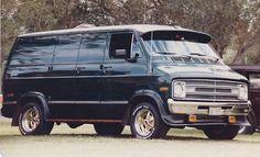 Custom 70's Dodge Van.