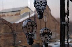 Turn old lightbulbs into hot air ballon art. | 33 Impossibly Cute DIYs You Can Make With Things From Your Recycling Bin