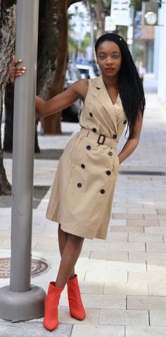 Beige Trench Coat outfit