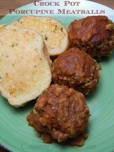 Crock Pot Recipe: Porcupine Meatballs, Uses 7 Ingredients Easy To Make - http://couponingforfreebies.com/crock-pot-recipe-porcupine-meatballs/
