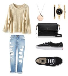 """Untitled #1"" by monika-machalova on Polyvore featuring Genetic Denim, Vans, Kate Spade and Style & Co."
