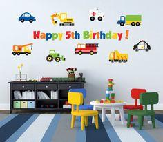 Truck Birthday Party  Boy Birthday Party Decorations by YendoPrint