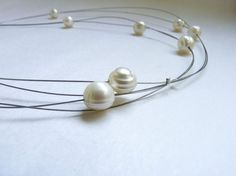 Pearl LonG Necklace Delicate necklace Freshwater by aforfebre